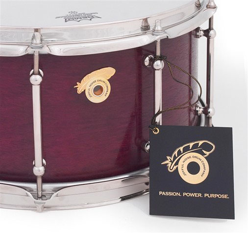 Exotic Purple Heart Snare Drum